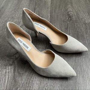 STEVE MADDEN Gray Suede Heels Pumps Shoes (5 1/2)